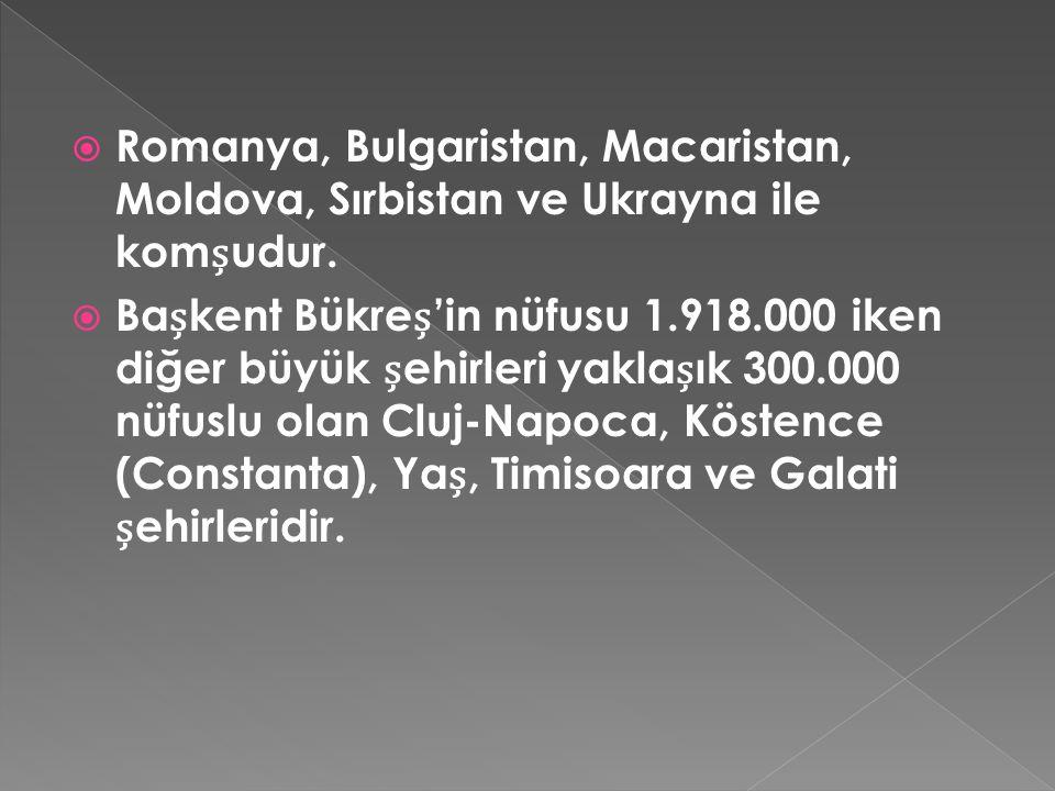Romanya, Bulgaristan, Macaristan, Moldova, Sırbistan ve Ukrayna ile komșudur.