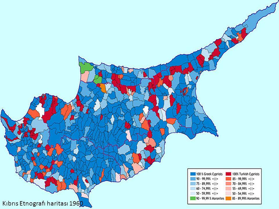 Kıbrıs Etnografı haritası 1960