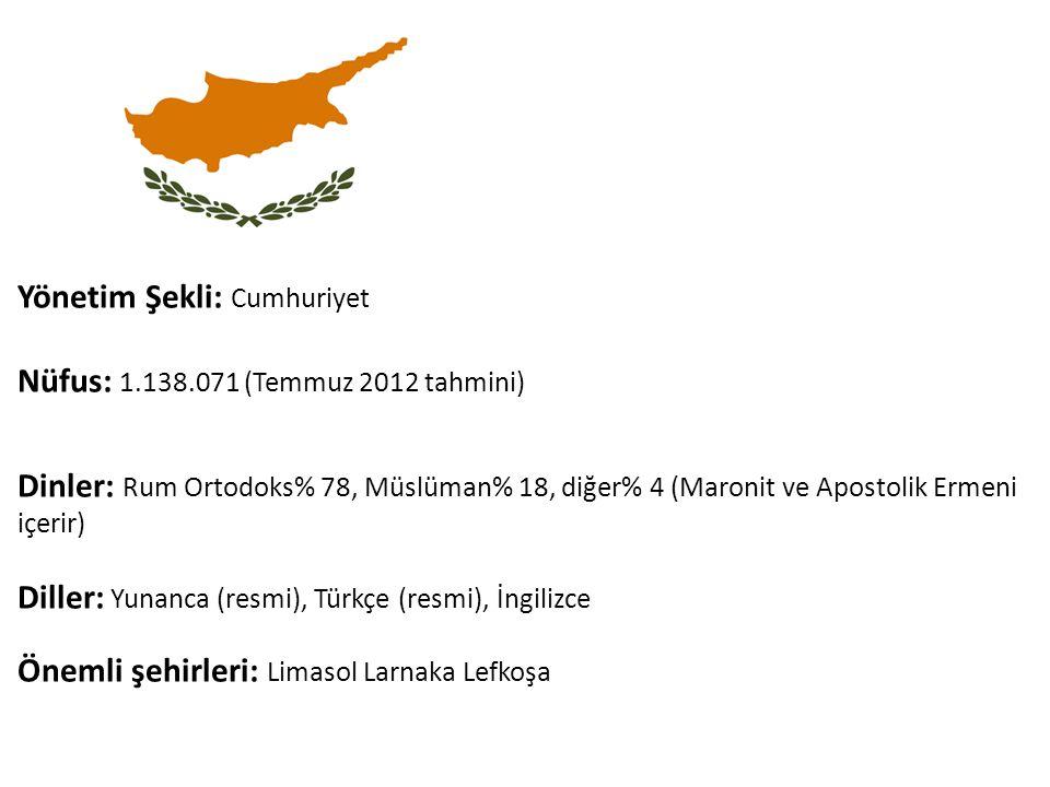 Yönetim Şekli: Cumhuriyet