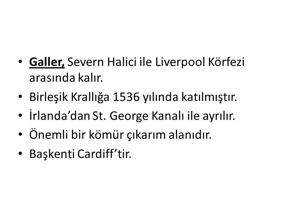 Galler, Severn Halici ile Liverpool Körfezi arasında kalır.
