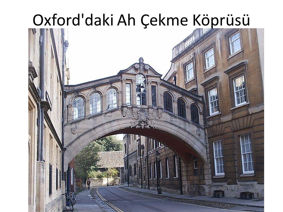 Oxford daki Ah Çekme Köprüsü