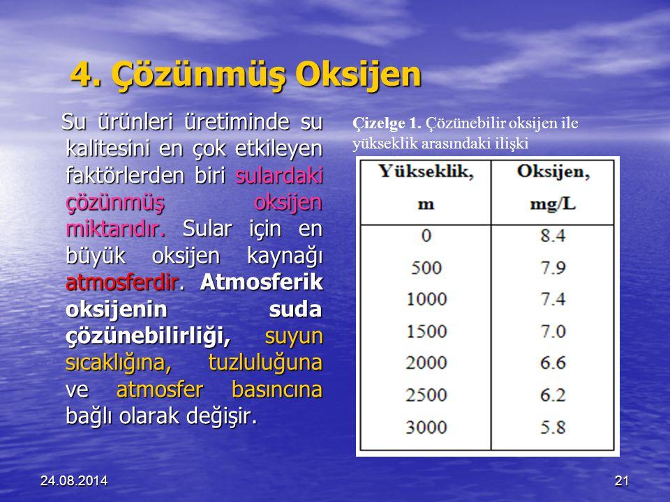 4. Çözünmüş Oksijen