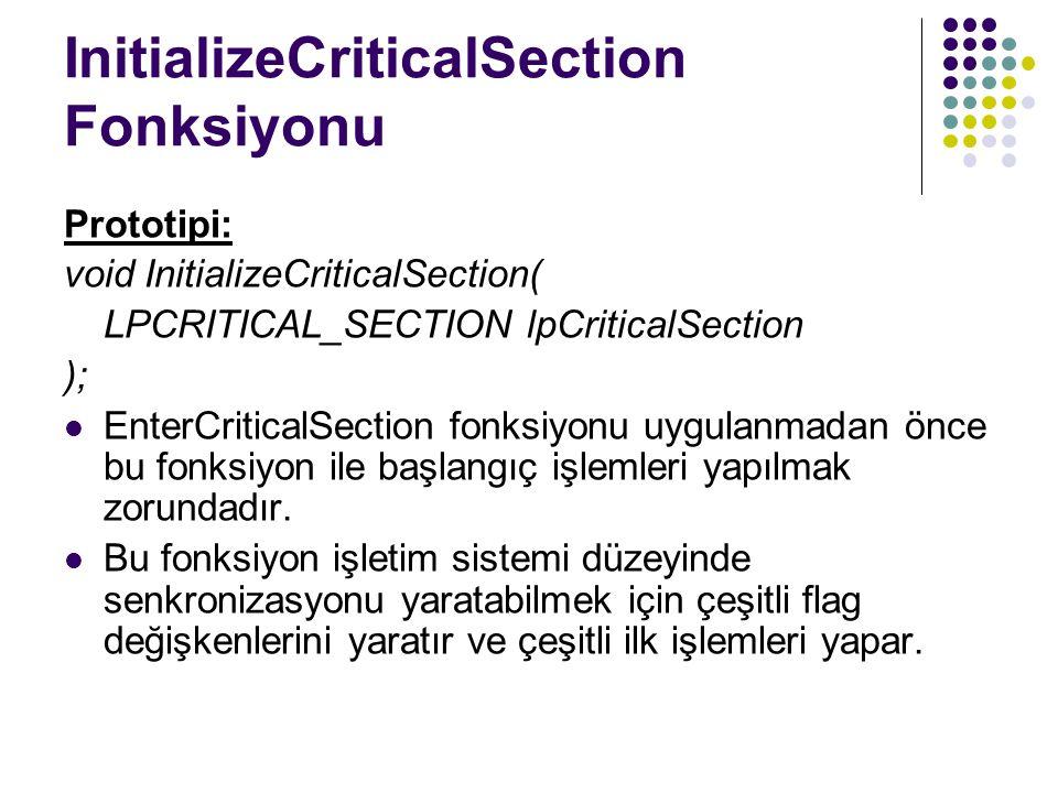 InitializeCriticalSection Fonksiyonu