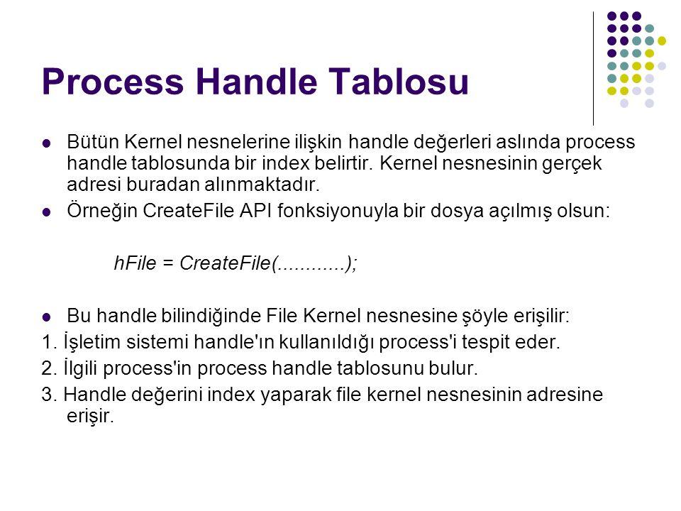 Process Handle Tablosu