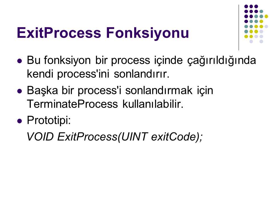 ExitProcess Fonksiyonu