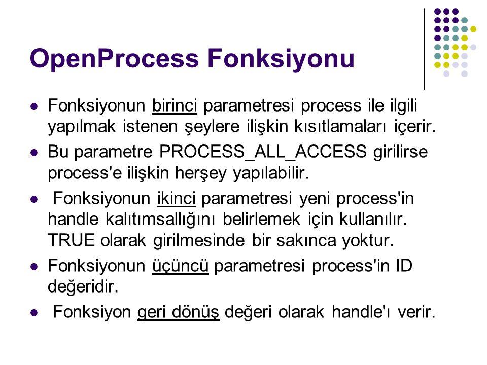 OpenProcess Fonksiyonu