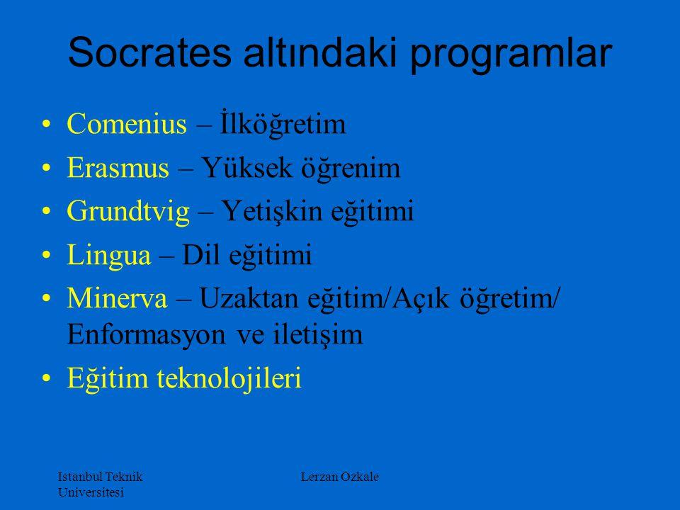 Socrates altındaki programlar