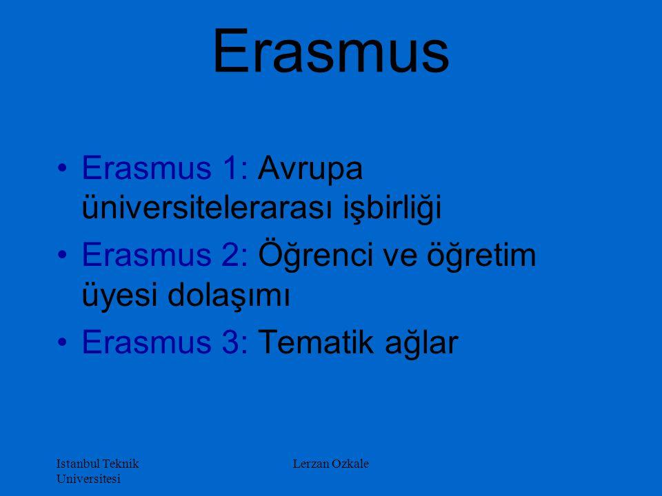 Erasmus Erasmus 1: Avrupa üniversitelerarası işbirliği