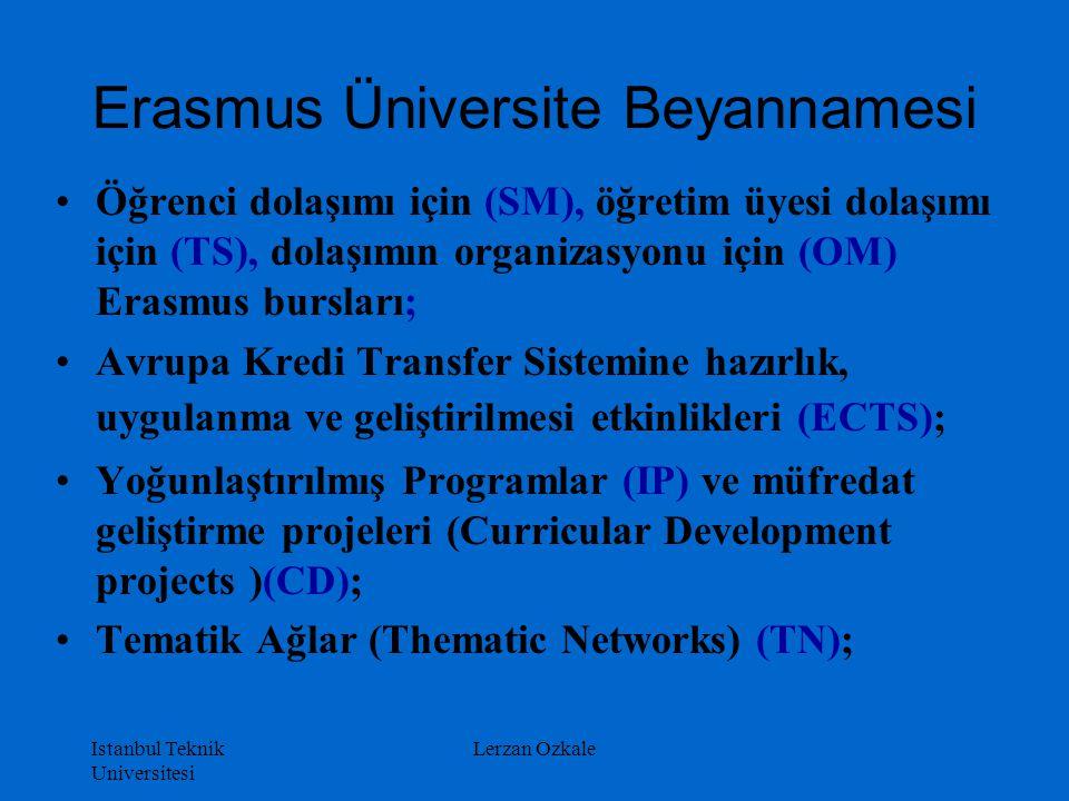 Erasmus Üniversite Beyannamesi