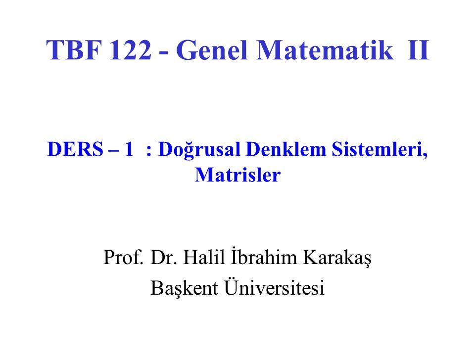 Prof. Dr. Halil İbrahim Karakaş Başkent Üniversitesi