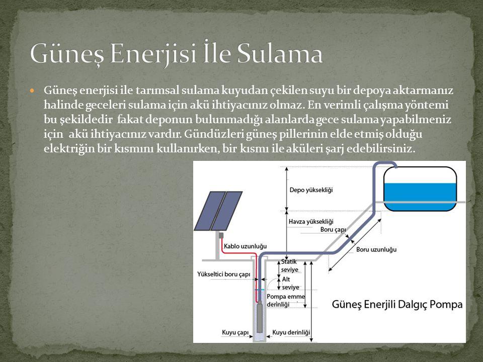 Güneş Enerjisi İle Sulama