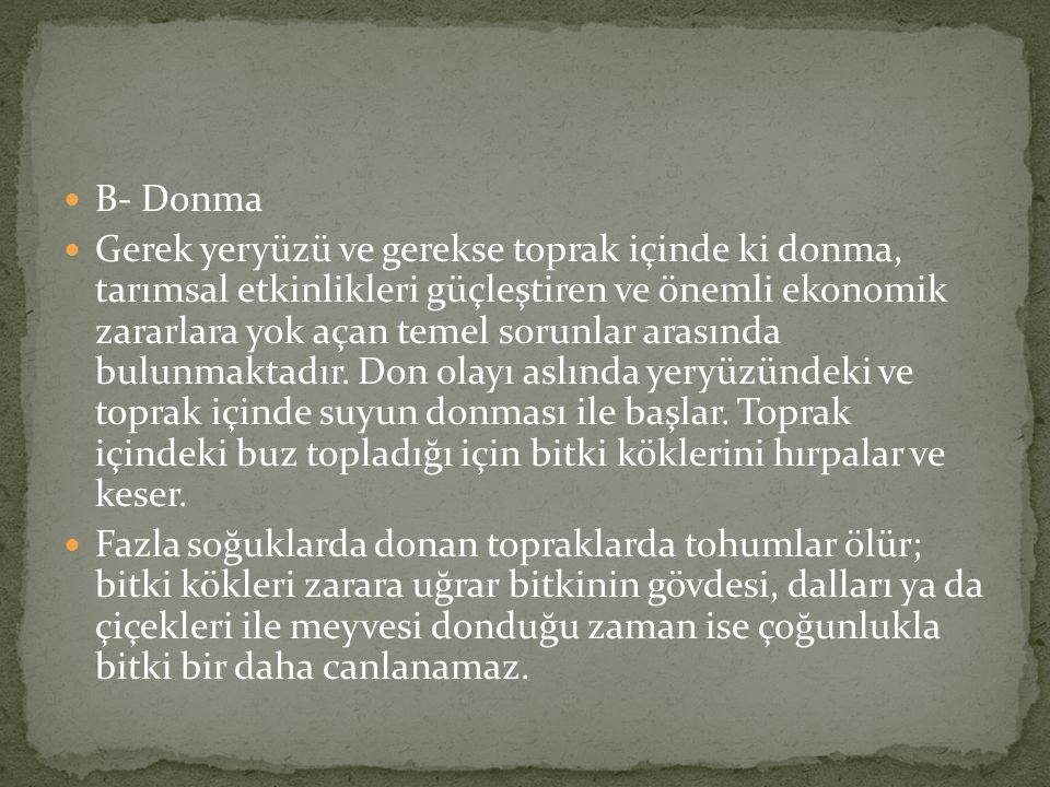 B- Donma