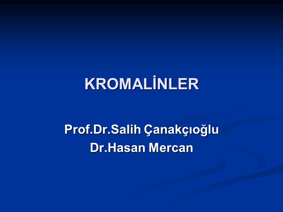 Prof.Dr.Salih Çanakçıoğlu Dr.Hasan Mercan