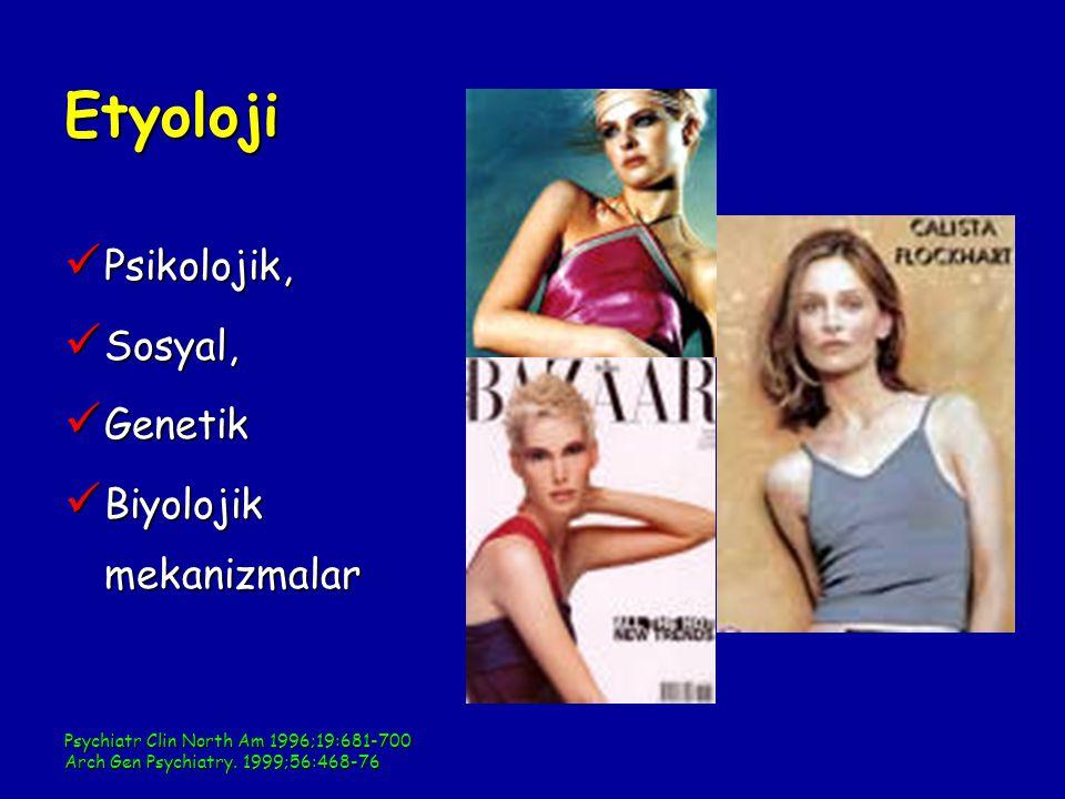 Etyoloji Psikolojik, Sosyal, Genetik Biyolojik mekanizmalar