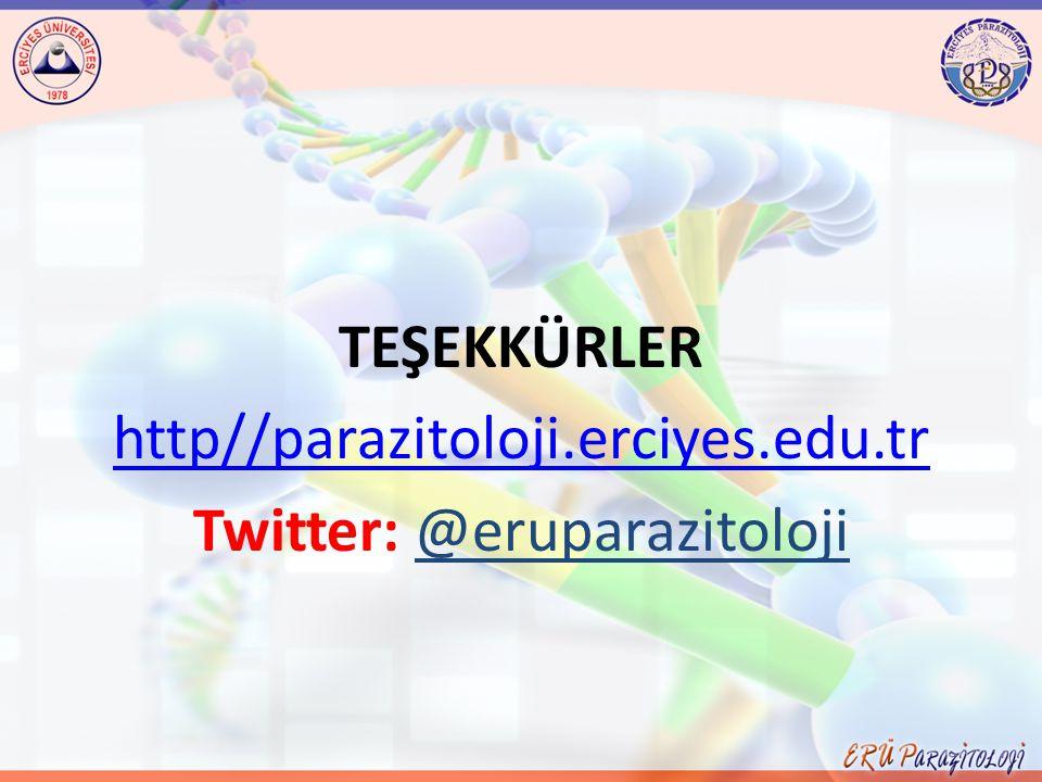 TEŞEKKÜRLER http//parazitoloji. erciyes. edu