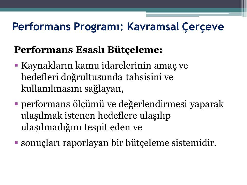 Performans Programı: Kavramsal Çerçeve
