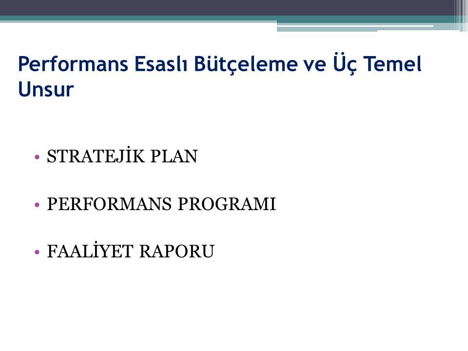 Performans Esaslı Bütçeleme ve Üç Temel Unsur