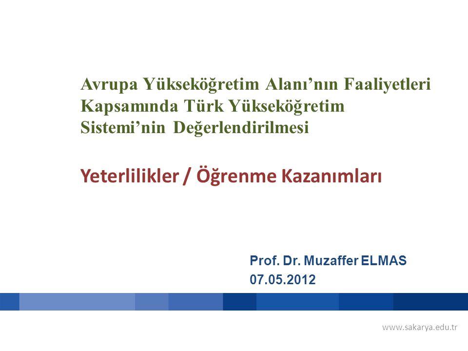 Avrupa Yükseköğretim Alanı'nın Faaliyetleri Kapsamında Türk Yükseköğretim Sistemi'nin Değerlendirilmesi Yeterlilikler / Öğrenme Kazanımları