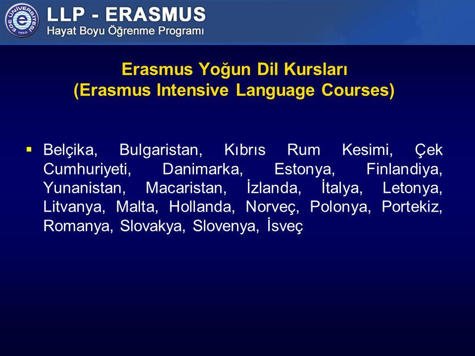 Erasmus Yoğun Dil Kursları (Erasmus Intensive Language Courses)