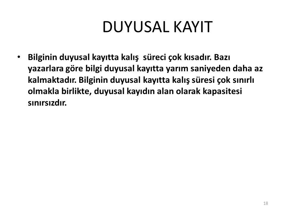 DUYUSAL KAYIT