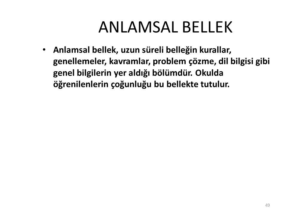 ANLAMSAL BELLEK