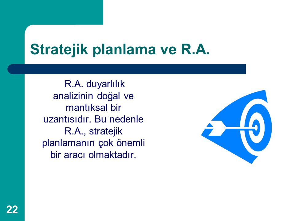 Stratejik planlama ve R.A.