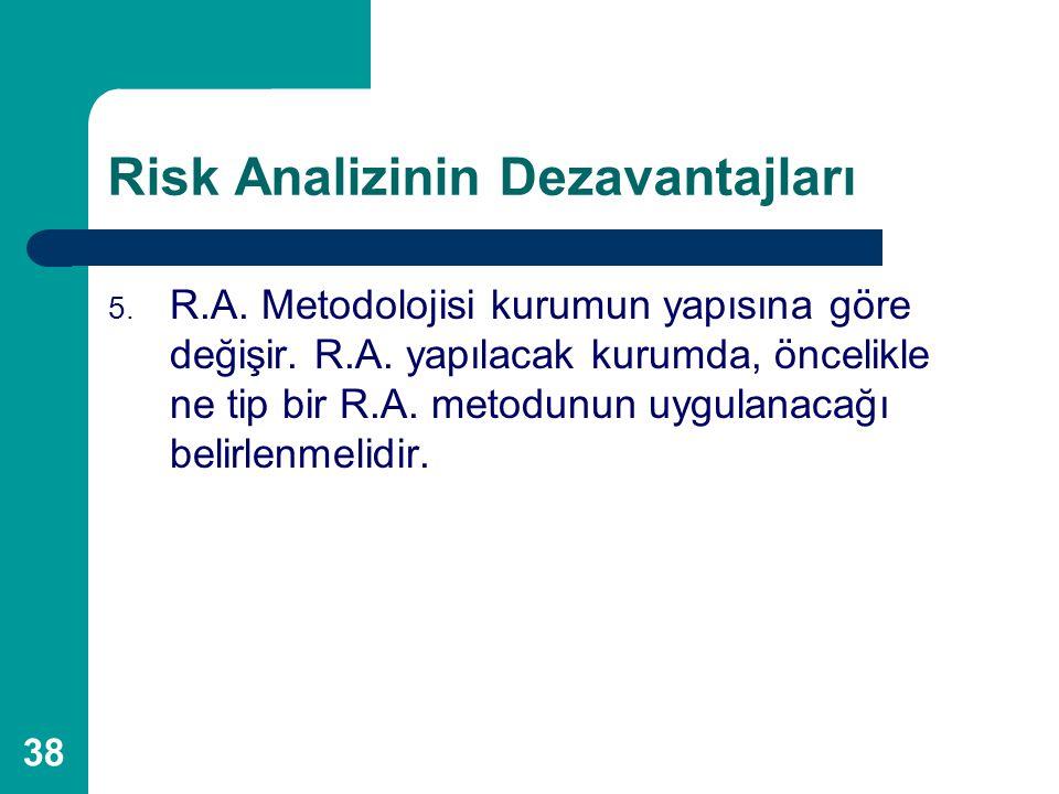 Risk Analizinin Dezavantajları