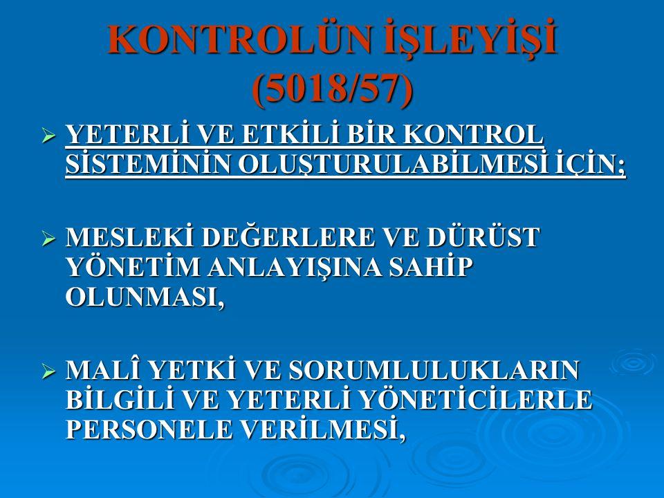 KONTROLÜN İŞLEYİŞİ (5018/57)