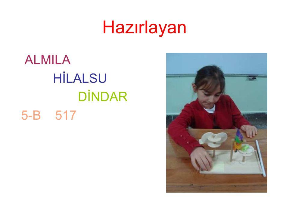 Hazırlayan ALMILA HİLALSU DİNDAR 5-B 517
