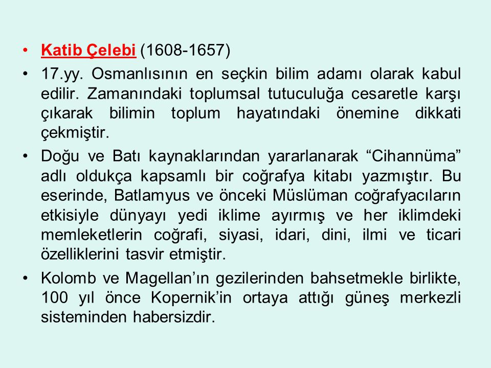Katib Çelebi (1608-1657)