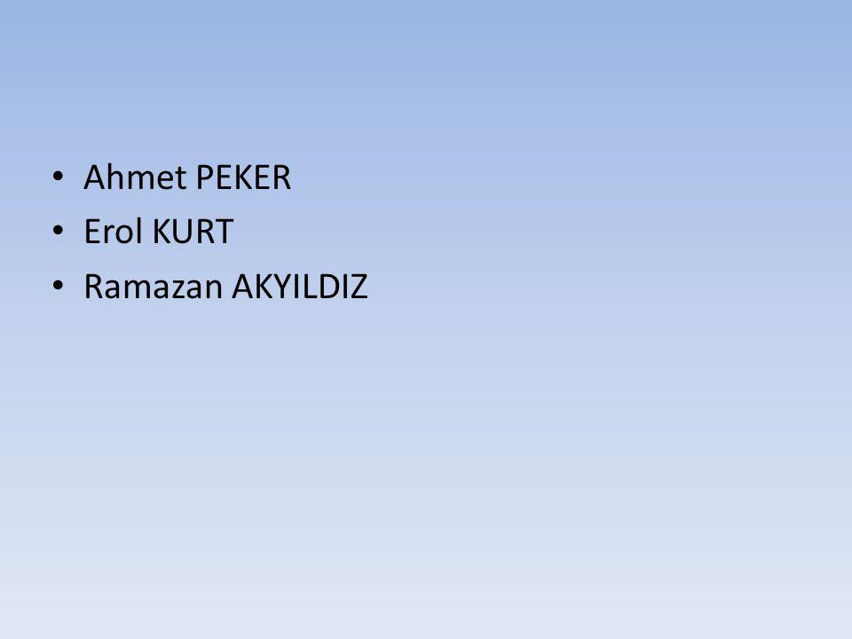 Ahmet PEKER Erol KURT Ramazan AKYILDIZ