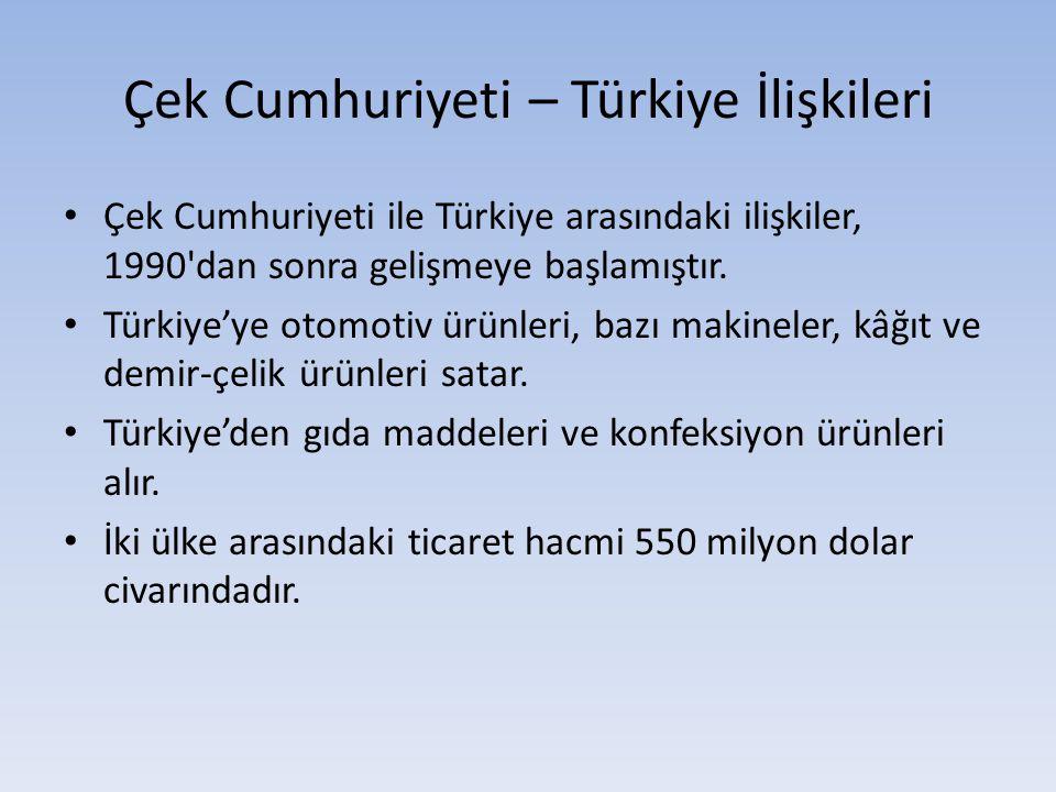 Çek Cumhuriyeti – Türkiye İlişkileri