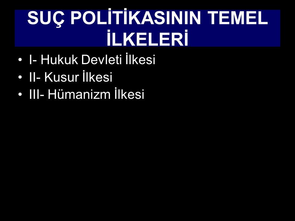 SUÇ POLİTİKASININ TEMEL İLKELERİ