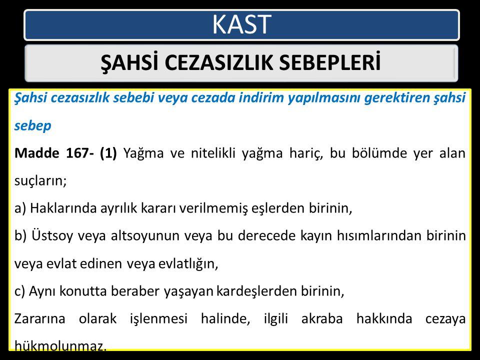 ŞAHSİ CEZASIZLIK SEBEPLERİ