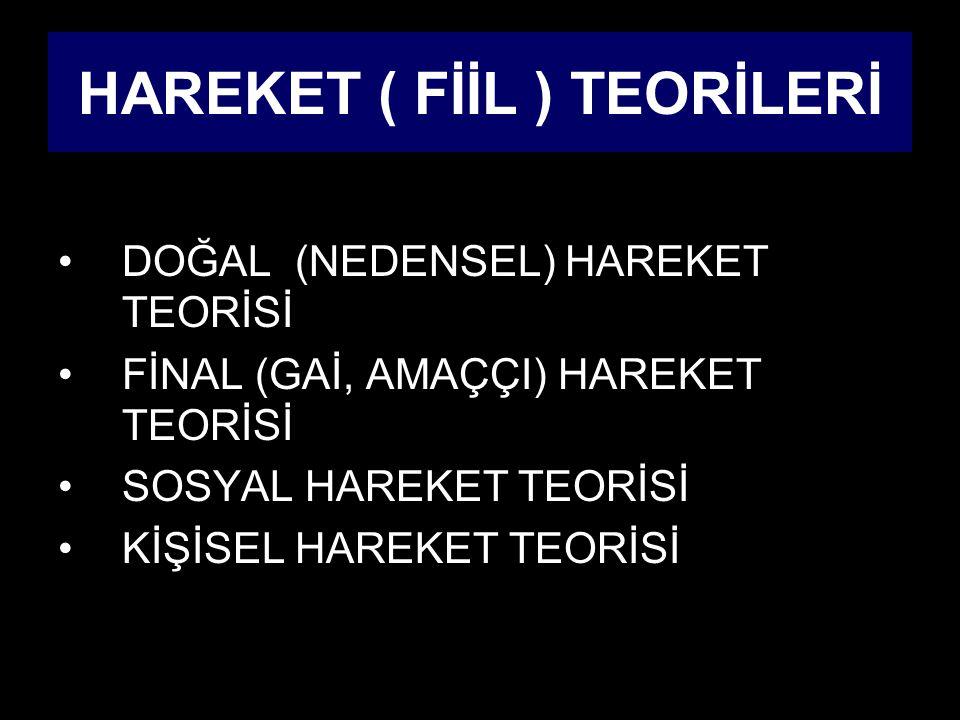 HAREKET ( FİİL ) TEORİLERİ