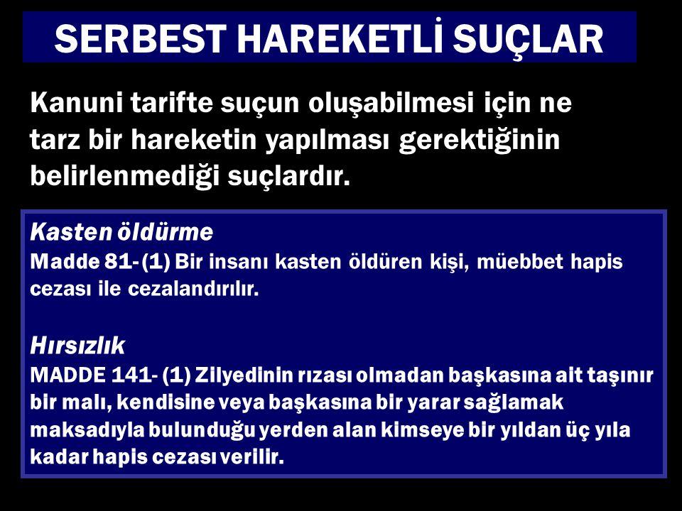 SERBEST HAREKETLİ SUÇLAR