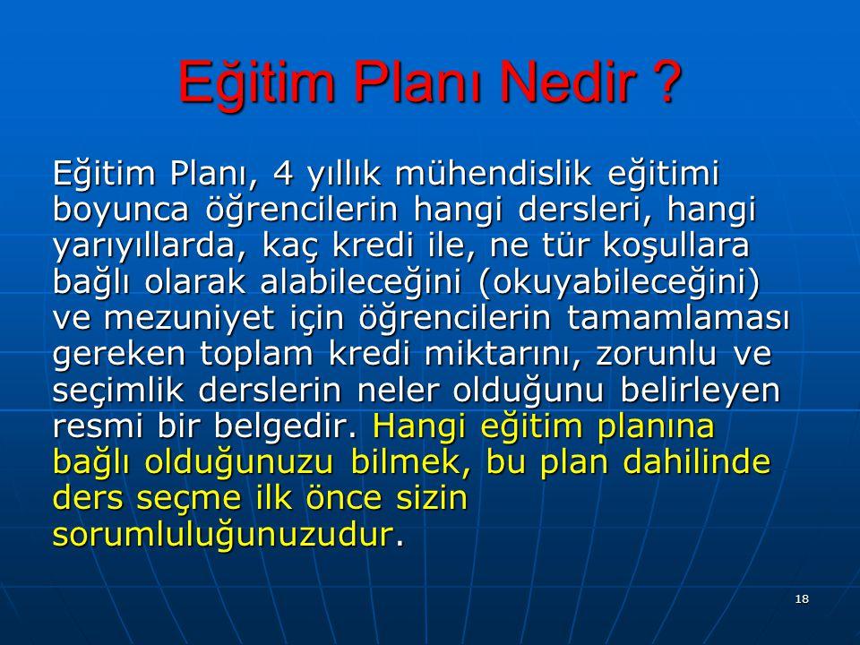 Eğitim Planı Nedir