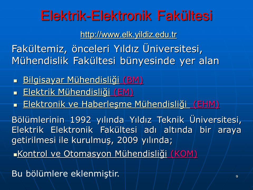 Elektrik-Elektronik Fakültesi http://www.elk.yildiz.edu.tr