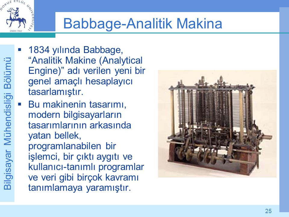 Babbage-Analitik Makina