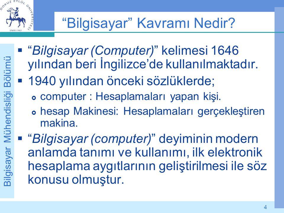 Bilgisayar Kavramı Nedir