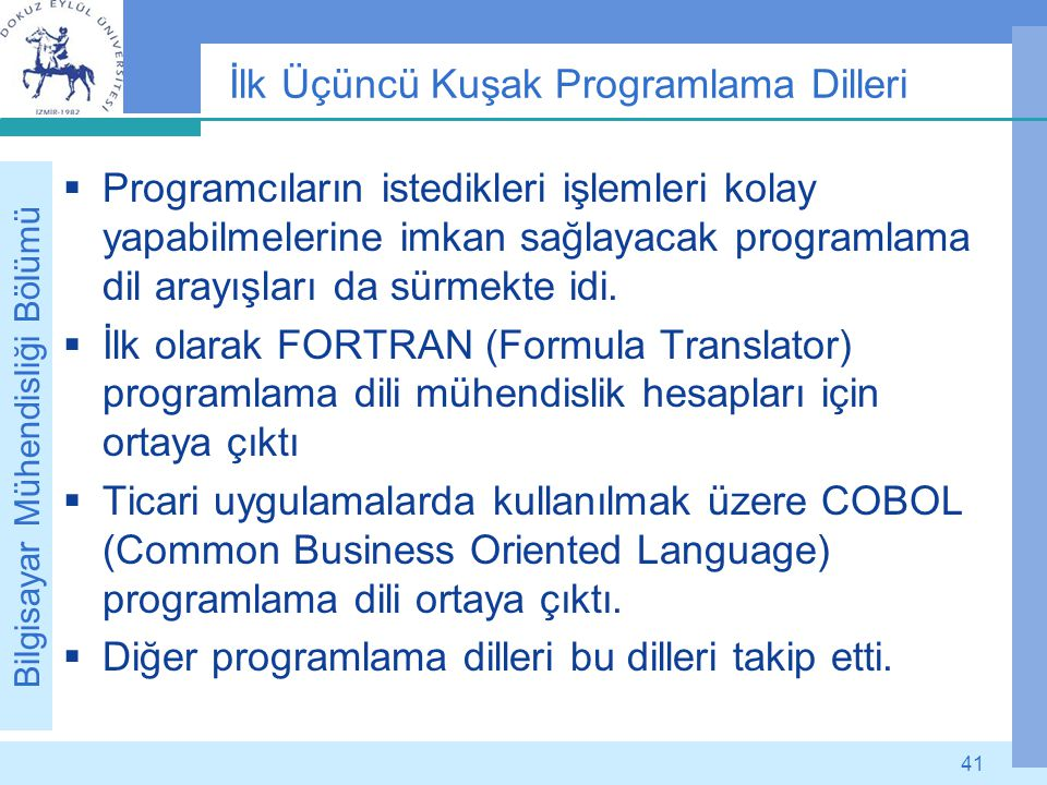 İlk Üçüncü Kuşak Programlama Dilleri