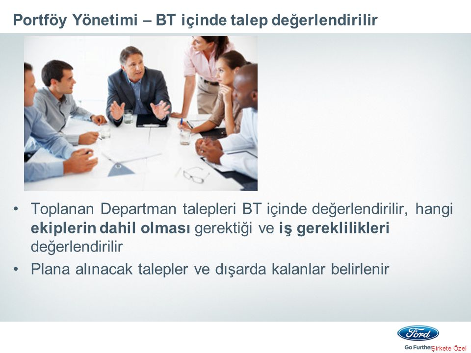 Portföy Yönetimi – BT içinde talep değerlendirilir