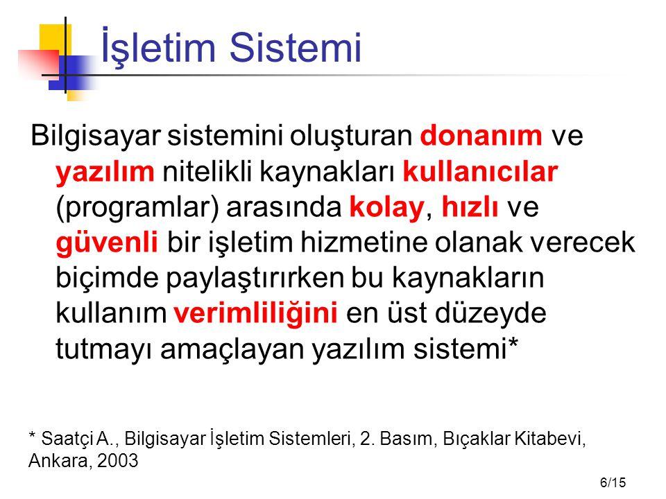 İşletim Sisteminin Görevleri (1)