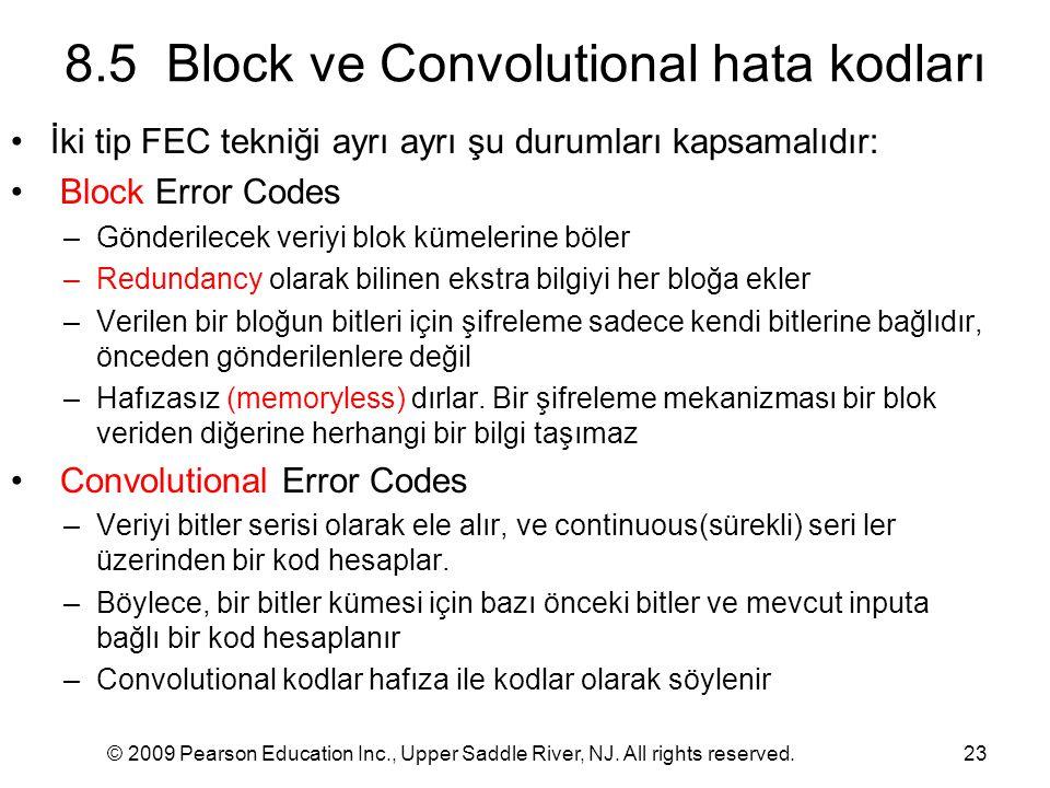 8.5 Block ve Convolutional hata kodları