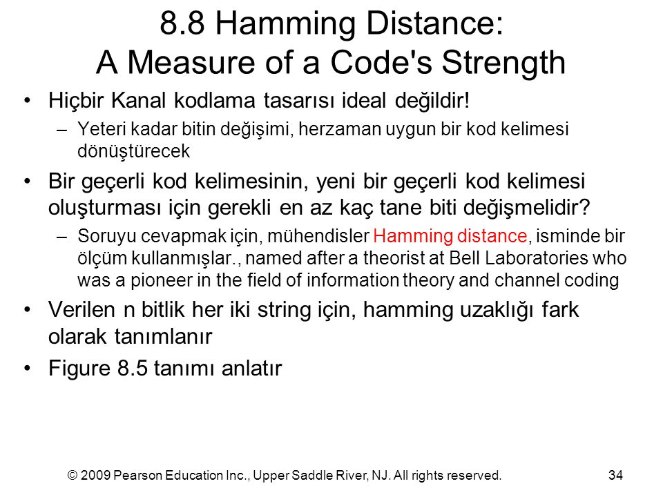 8.8 Hamming Distance: A Measure of a Code s Strength