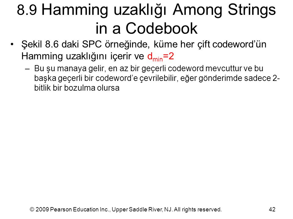 8.9 Hamming uzaklığı Among Strings in a Codebook