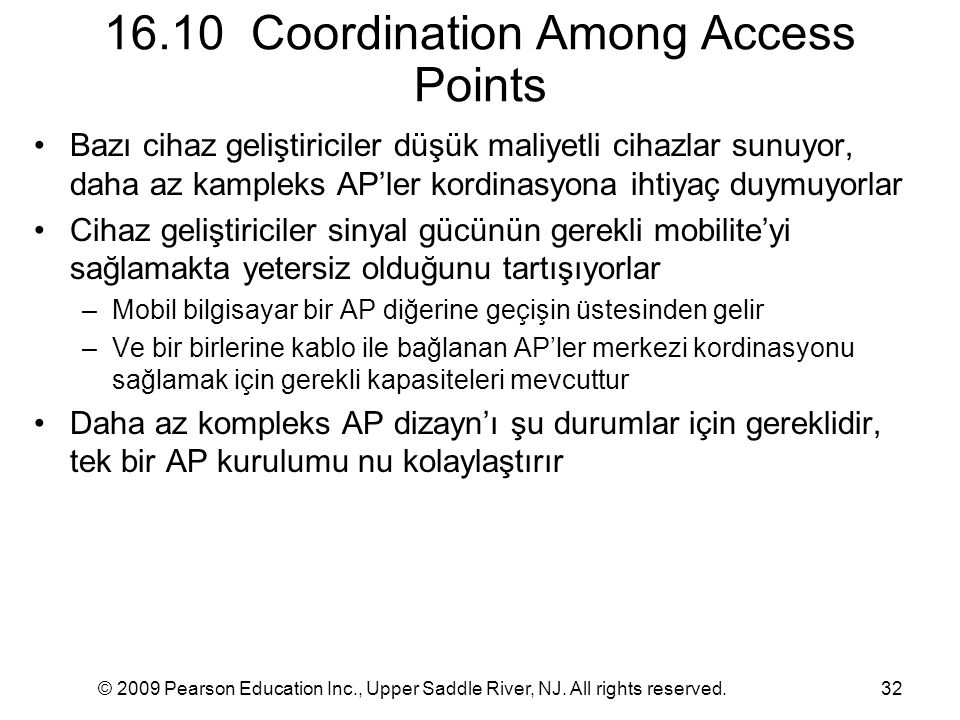 16.10 Coordination Among Access Points