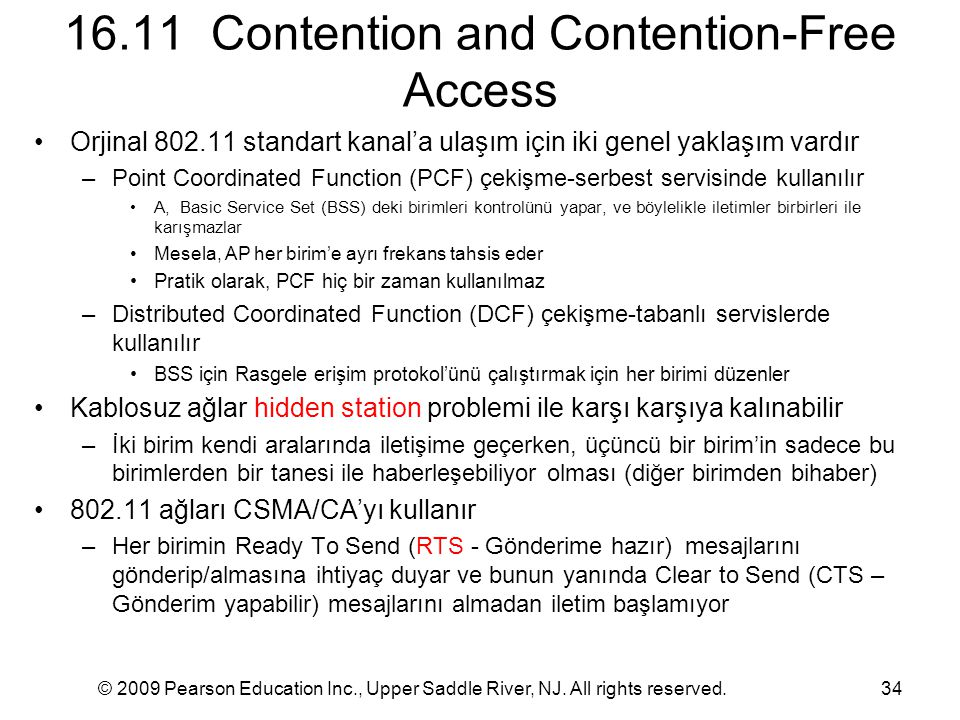 16.11 Contention and Contention-Free Access