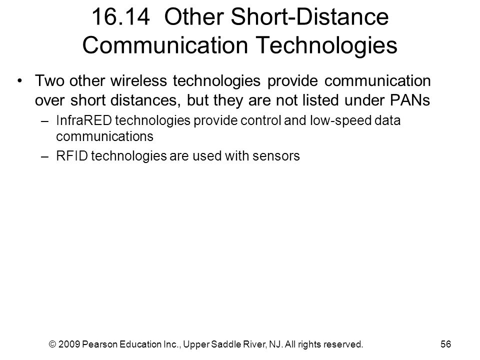 16.14 Other Short-Distance Communication Technologies