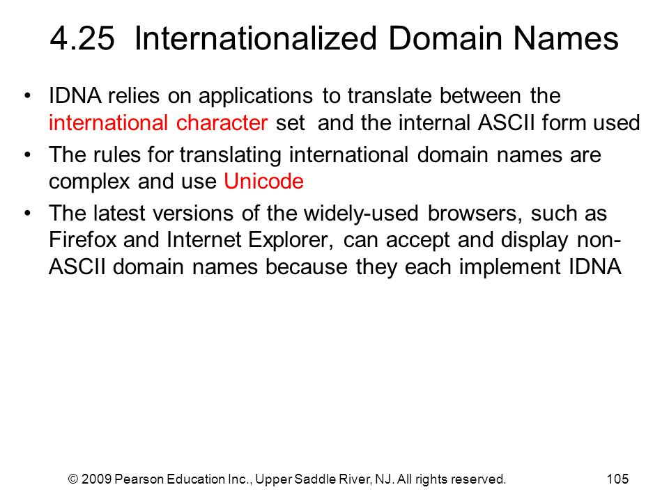 4.25 Internationalized Domain Names